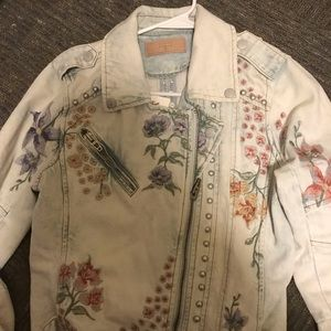 Blank NYC Floral Denim Jacket Brand New